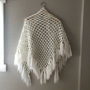 Vintage Accessories - Vintage crochet wrap